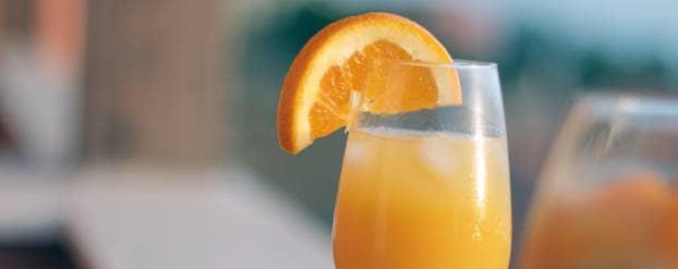 Glas met sinaasappelsap