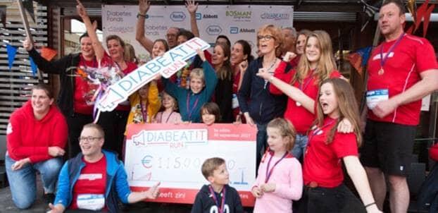 Recordopbrengst van 115.002 euro bij DiaBeatit Run