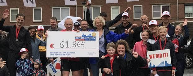 Hardlopers New York Mini Marathon halen 61.864 euro op voor diabetes