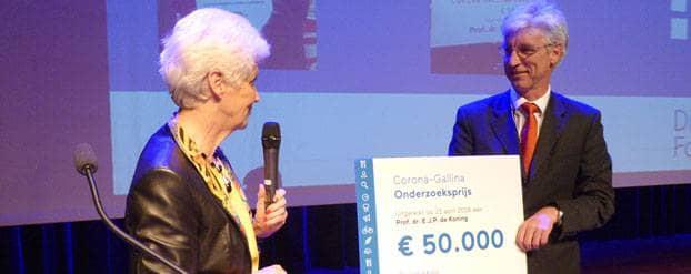Prof. dr. Eelco de Koning winnaar Corona-Gallina Onderzoeksprijs