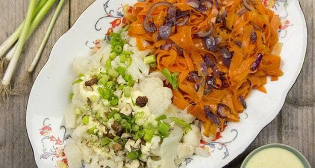 Bloemkool met wortellinten