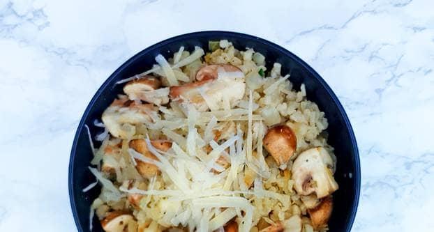 Bloemkoolrisotto met champignons