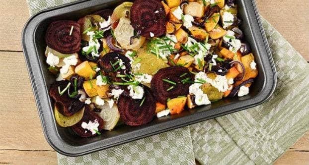 Winterse gegrilde groenten