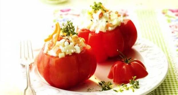Foto Gevulde tomaten
