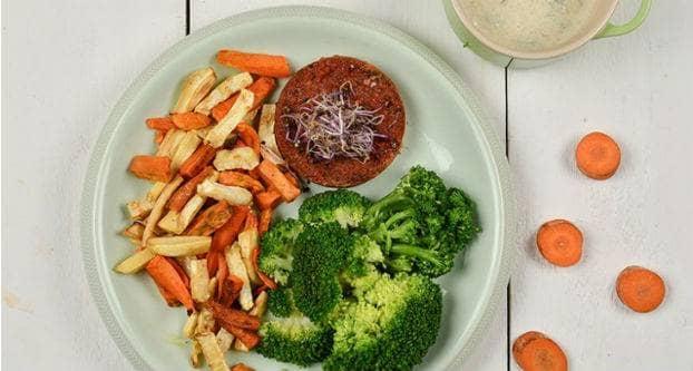 Groentefriet met kinowaburger