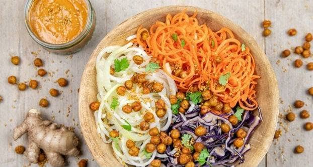 Kikkererwten salade bowl