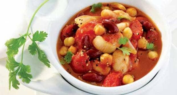 Mexicaanse tomaten-bonensoep