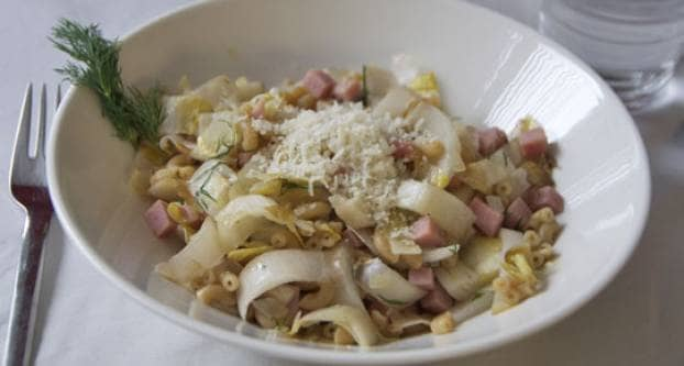 Lof met pasta