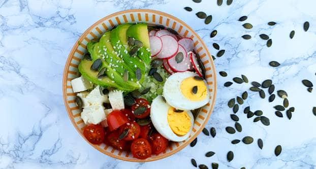 Vegetarische pokébowl