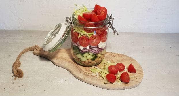 Salade in een weckpot