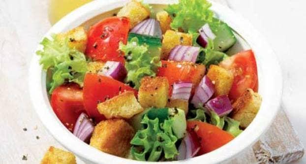 Salade met croutons