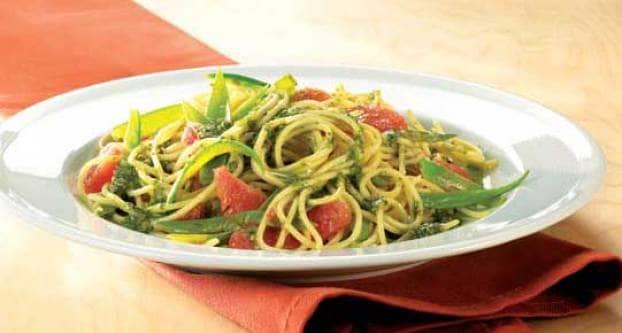Spaghetti met Thaise pesto