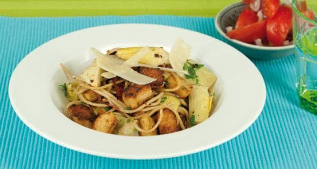 Spaghetti met artisjokhartjes