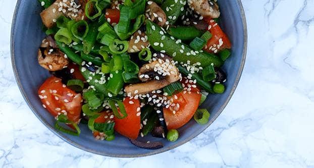 Salade van sperziebonen