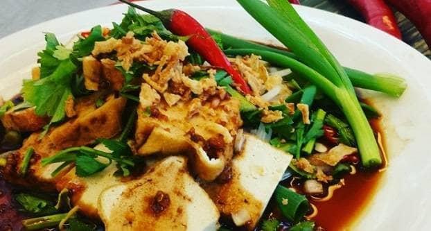 Gestoomde tofu met ketjap manis