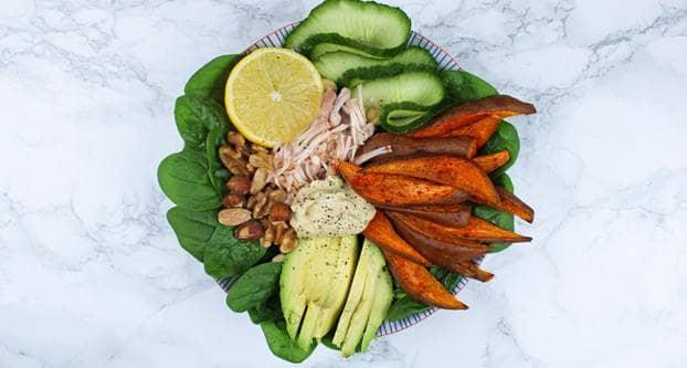 Vegan bowl met jackfruit