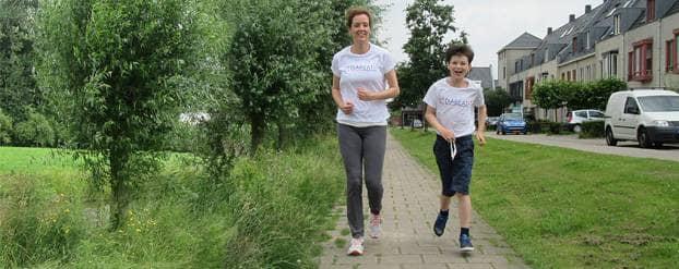 Ian traint voor de Royal Run bij Paleis Soestdijk
