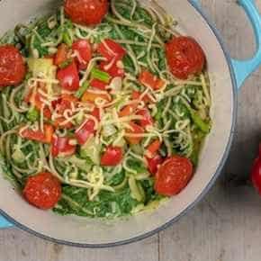 Groene spaghetti