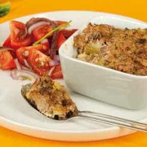 Aardappeltaart met tonijn