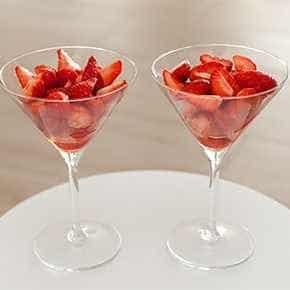 Aardbeien op z'n Italiaans