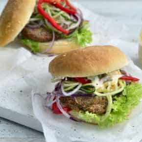 Zalm groentespiraal burger