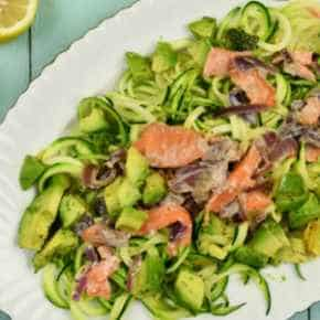 Courgetti met zalm-roomsaus