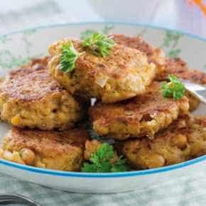 Falafelballetjes met knoflooksaus