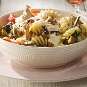 Kikkererwtenpasta met gorgonzola