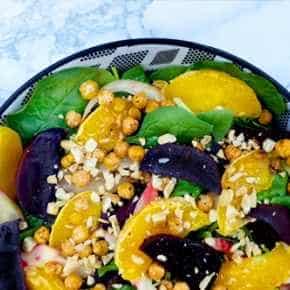 Geroosterde bietensalade