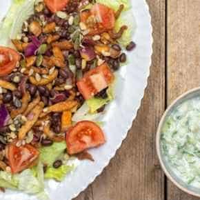 Salade met shoarma