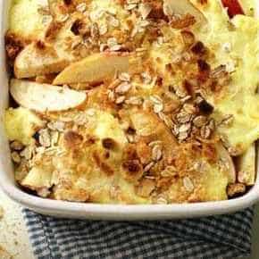 Krokante appel uit de oven met vanille