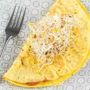 Omelet met groentespread