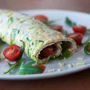 Omelet wrap