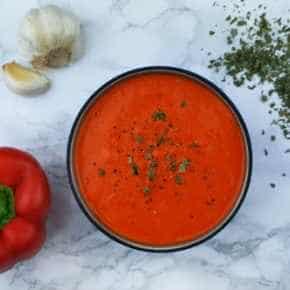 Pastasaus van gegrilde paprika