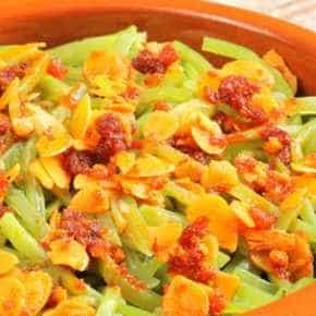 Haricots verts met amandelen en clementines