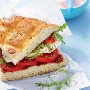 Turks brood caprese