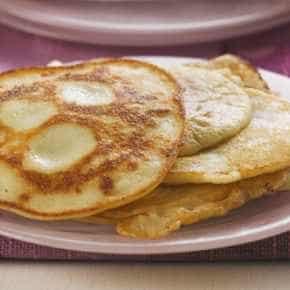 Sinaasappel met yoghurtpannenkoekjes